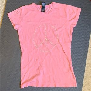 100% Organic Cotton Tee with Capped sleeves